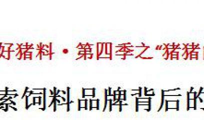 """中国好猪料·第四季之""""猪猪的托付""""——探索饲料品牌背后的客户价值"""